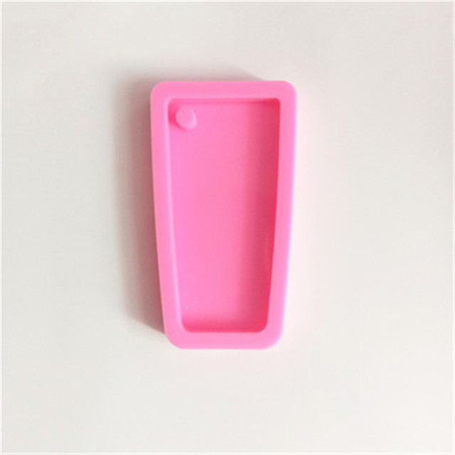 Shiny water glass silicone mold keychain
