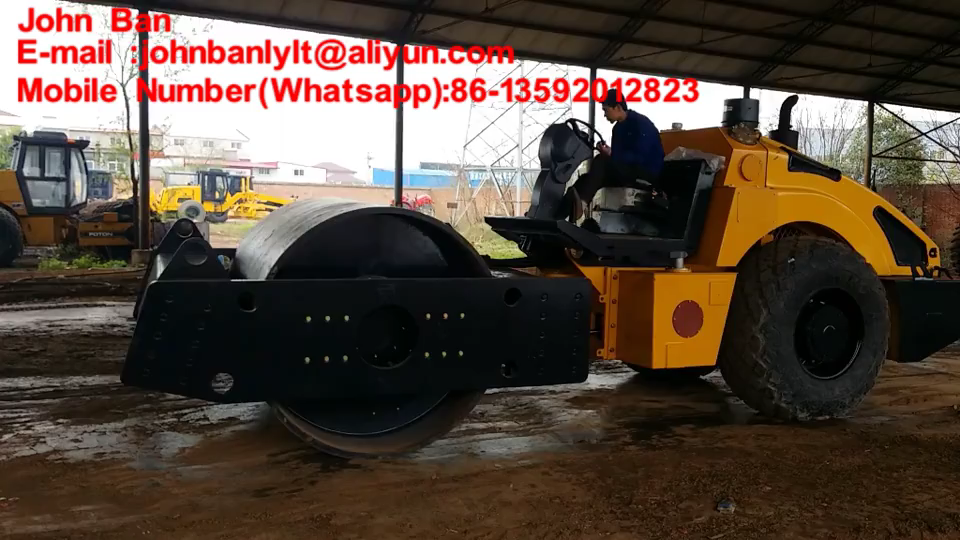 Road Machinery road roller soil compactor 14tons single drum double hydraulic drive road roller with 110hp engine