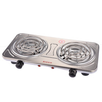 double hot plate stainless steel electric cooker portable cook stove power switching coil