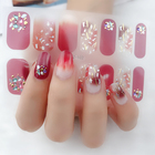 Beautysticker Self Adhesive 3D Design Nail Art Sticker Tip Colorful Flower Decoration Decals Stickers