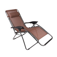 Outdoor Camping Folding Deck Teslin Chaise Chair