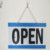 LED open business hour time open close sign for shop and store advertising