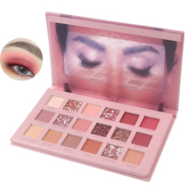 Private label metallic glitter matte waterdichte <span class=keywords><strong>make-up</strong></span> 18 color eyeshadow palette