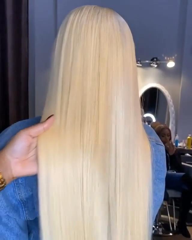 Wig Renda Depan 613, Wig Frontal Renda Hd 613, Rambut Manusia Wig Renda Penuh 613 Pirang