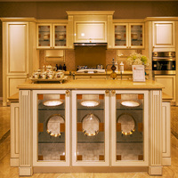 Wooden cupboard home furniture small kitchen cabinet set