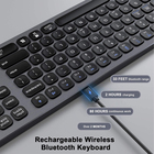 Keyboard BT 3.0 5.0 Keyboard Multi-Device Rechargeable BT 3.0 5.0 Keyboard Aluminum Wireless Type-C Rechargeable Keyboard