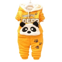Hot sells boys girls cartoon clothes sets 2019 wholesales kids clothes baby winter clothing sets