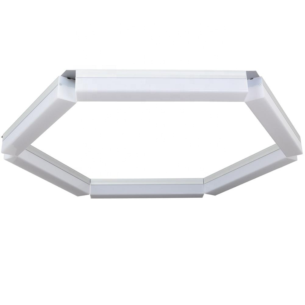 Customize hot selling 2ft 24w ceiling indoor pendant batten tube office led linear supermarket pendant light