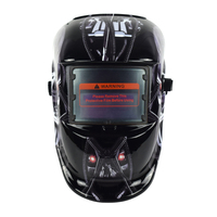 Customization shine welding helmet red blue yellow and etc helmets pp ce en175 auto darkening for high quality