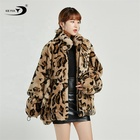 Rabbit Fur Coat Rex Rabbit Furfur Fur Down Coat Ice Fox Wholesale Casual Leopard Print Girls Natural Rabbit Fur Coat