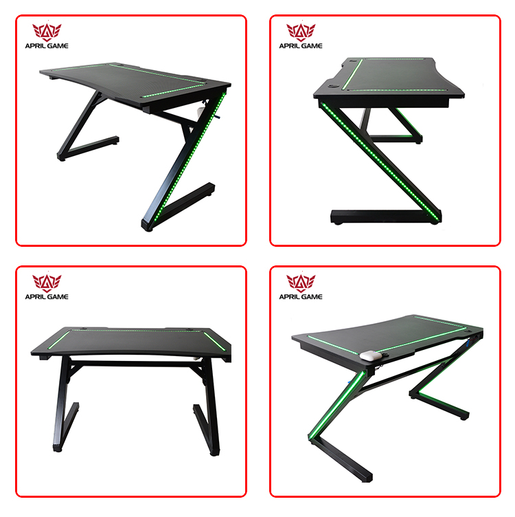 Y-GD23 2020 Modern High Quality Waterproof PC Gaming Table Led Computer Gaming Desk
