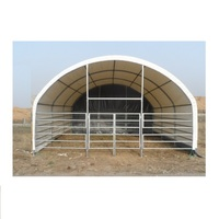 gs Economical PVC fabric Portable Prefab Farm shelter Cattle Horse Animal Shelter with CE Certificate