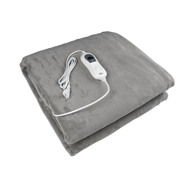 BS GROUP 180X130cm cosy fleece overheating protection electric heated throw blanket