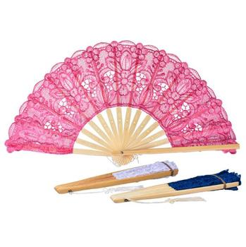 Chinese style fold hollow out fan cosplay lace fan bamboo decoration fan