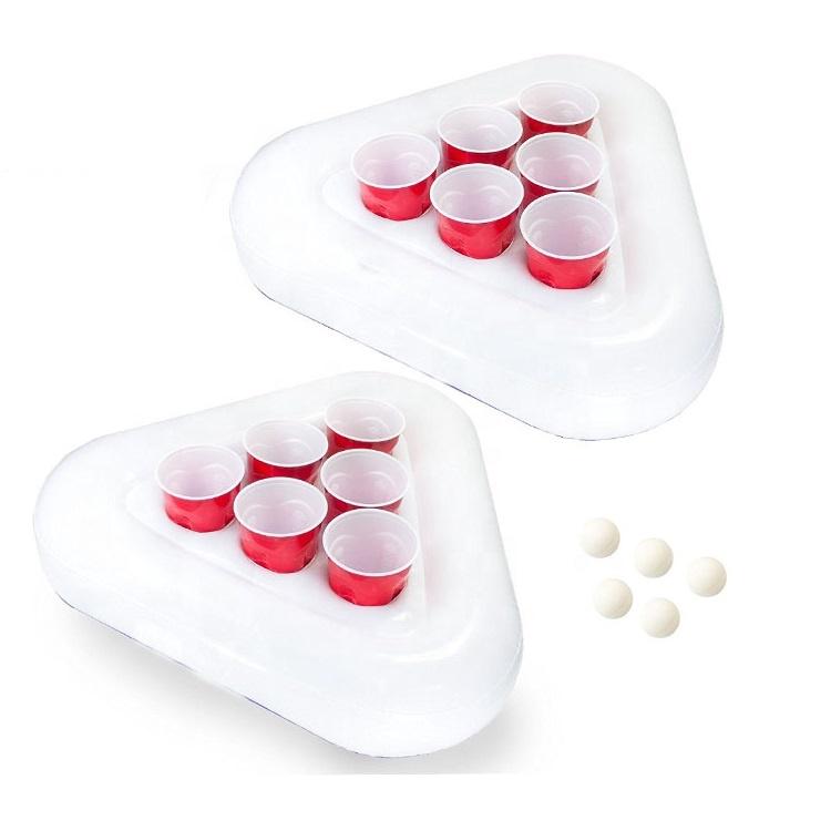 2-Pack Aufblasbare Bier Pong Schwimmt Set Pool Party Bier Pong Spiel Mit Tassen und bälle