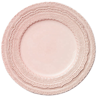 "Wholesale Elegent 13"" Pink Embossed Lace Wedding Event Charger Plates"