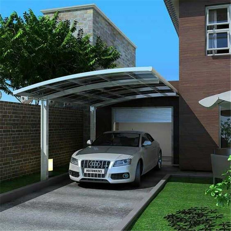 Polikarbonat çatı alüminyum çerçeve konsol carport/garaj/araba park döken