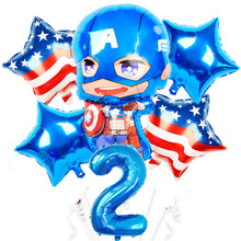 2020 super hero <span class=keywords><strong>Folie</strong></span> Ballons happy Birthday Party supplies Kinder junge Spielzeug balony Super hero Globos Avenger <span class=keywords><strong>ballon</strong></span>