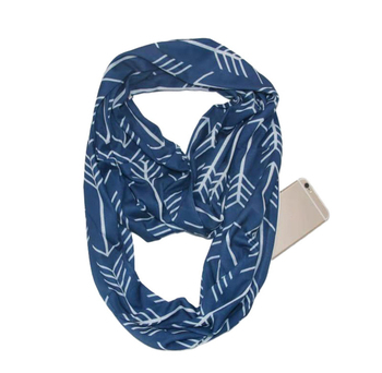Pop Fashion Unisex Travel Scarves Soft Lightweight Infinity Scarf Wholesale Convertible w Scarf With Zipper