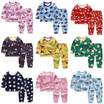 2pcs Set Kids Boys Girls Clothes Top+pants Cotton Baby Pajamas Sleepwear Newest