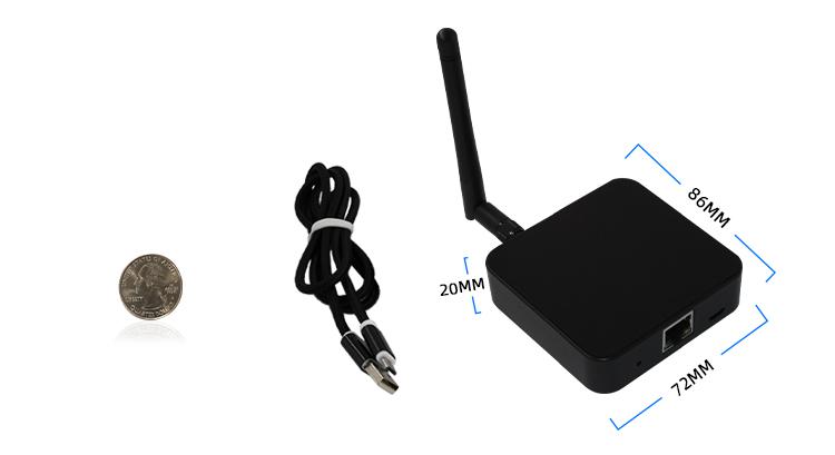 BLE 4.0  Bluetooth To WiFi Data Receiver Gateway IoT Bridage