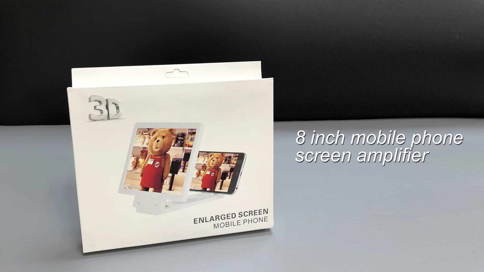 حار بيع المنتجات 3 مرات الهاتف المحمول F1 الشاشة المكبر 3D هاتف محمول شاشة مكبر الهاتف الموسع الشاشة