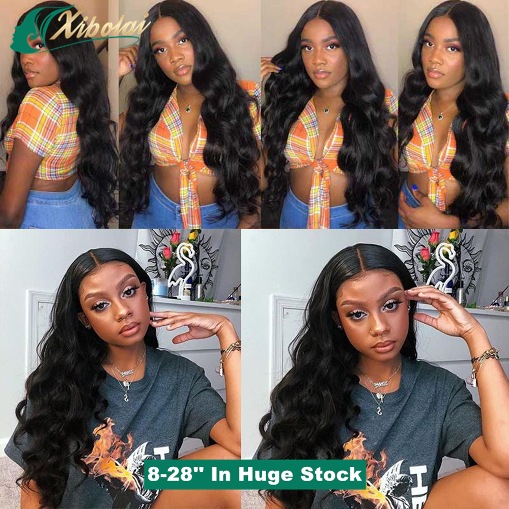 Wholesale Cuticle Aligned Unprocessed Vigrin Brazilian Human Hair Lace Front Wig,13x6 Pre Plucked Body Wavy Lace Frontal Wig