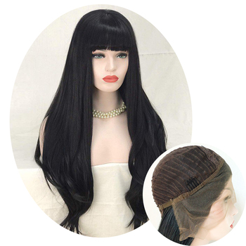 Natural synthetic wig lace front hair cuts for women hair stylist