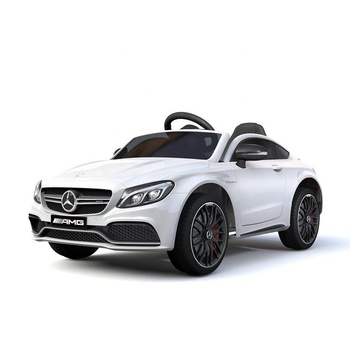Kids Ride-On Car Licensed Mercedes-Benz C63 AMG Electric Toy 12V Remote