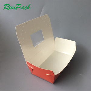 Restaurant supplies Chinese factory take away food packaging food grade paper lunch box