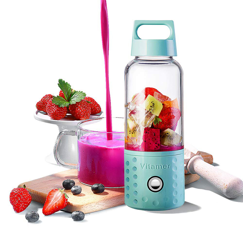 Lightweight USB juicer extractor machine Personal Smoothie Fruit Mixer Detachable Portable Blender VItamer