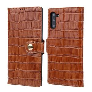 Genuine Leather Phone Case Wallet Card Slot Flip Case for Samsung Note 10