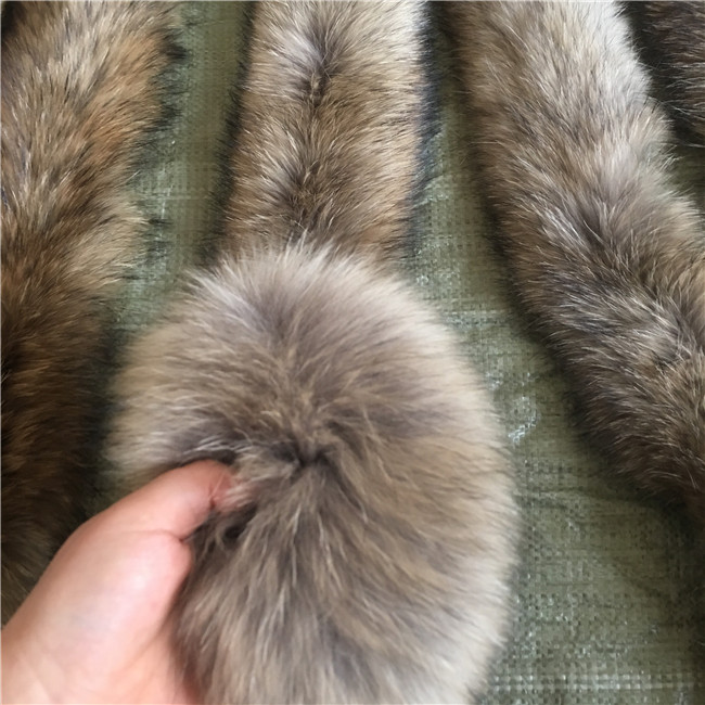 Raccoon Fur Collar Down Hood Trim Long Fur
