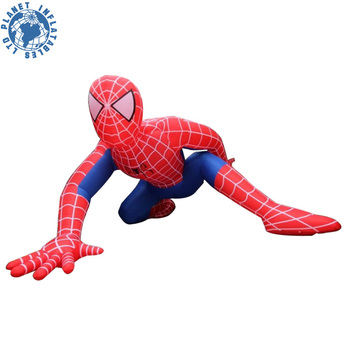 High Quality 5M High PVC Cartoon Inflatable Spiderman / Inflatable Super Hero Spider Man for Sale