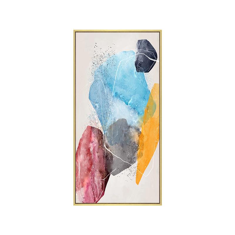 Venta caliente colorido abstracto de la lona pinturas de aceite para la habitación