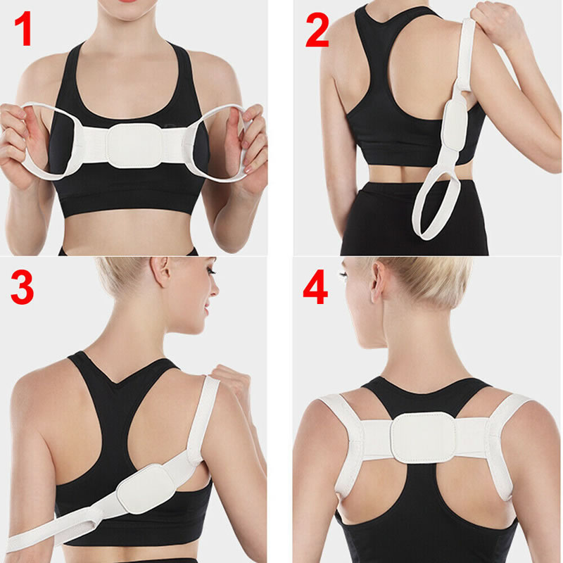 Inventory Relief Pain Shoulder Support for Women and Men Posture Corrector Prevent Slouching Clavicle Brace Belt