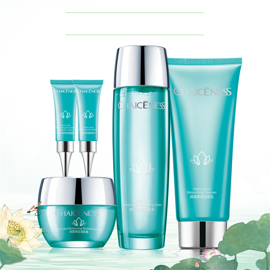 RTS ราคาถูก Private Label อินทรีย์ Naturals Lotus Hydration อินทรีย์สารสกัดจาก Hyaluronic Acid facial face Skin Care ชุด