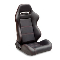 Car Seat Adjustable PVCBlack racing seat with single slider for auto car use JBR1035 sports seat