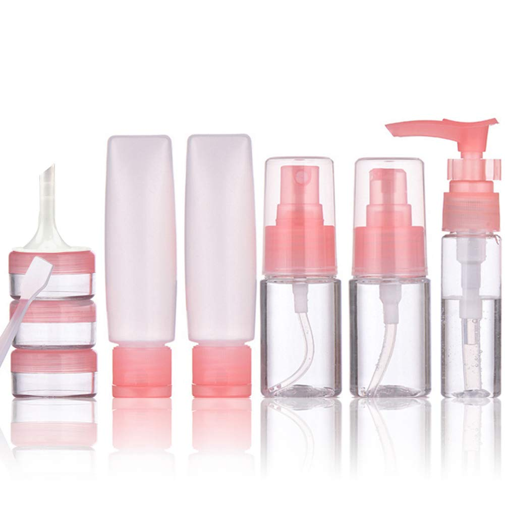 clear mini cosmetic packaging pet empty skin care spray lotion cream jar travel bottle set