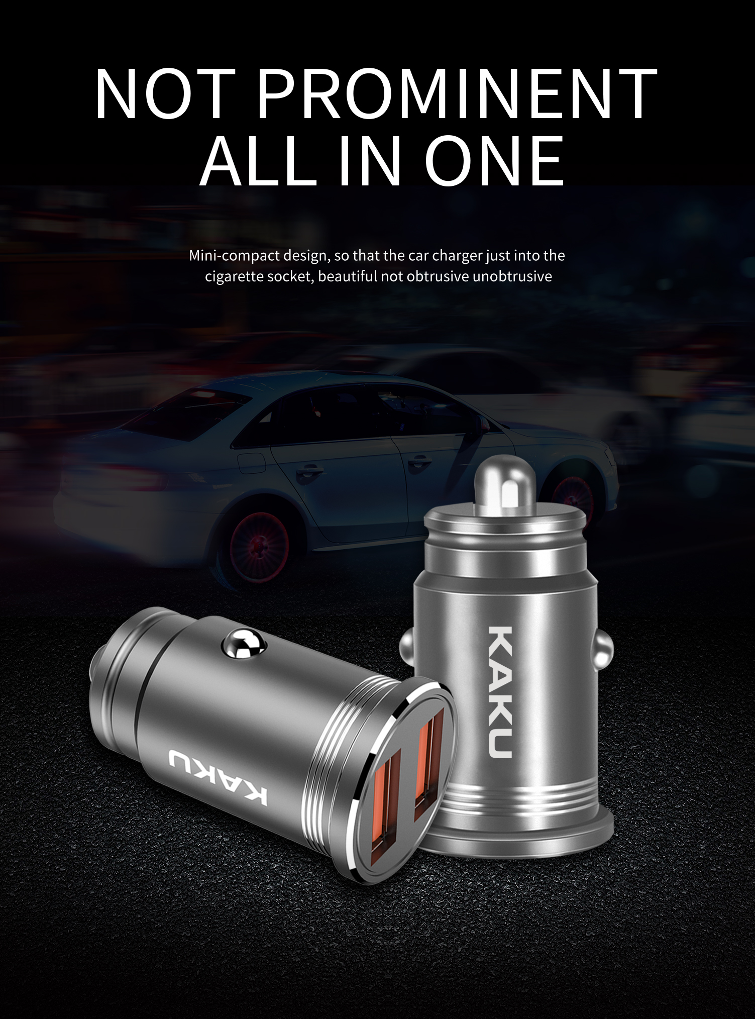 Dual 2 Port USB Car Charger Adapter, 2.1A/3.1A 10W/15W Dual USB Ports Mini Car Charger for Iphone 6
