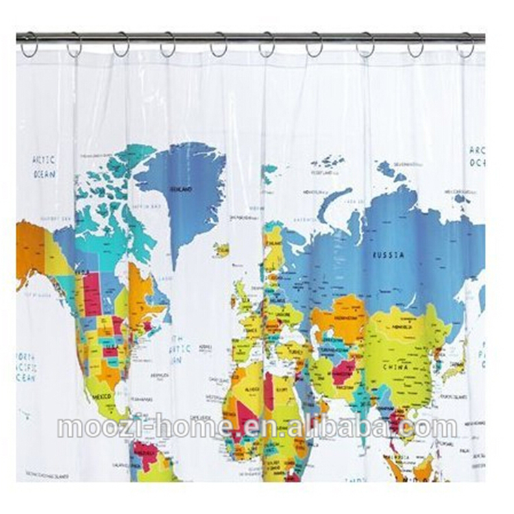 Top Sale Polyester World Map Pvc Transparent Shower Curtain - Buy Shower  Curtain,Polyester Shower Curtain,Pvc Transparent Shower Curtain Product on  ...