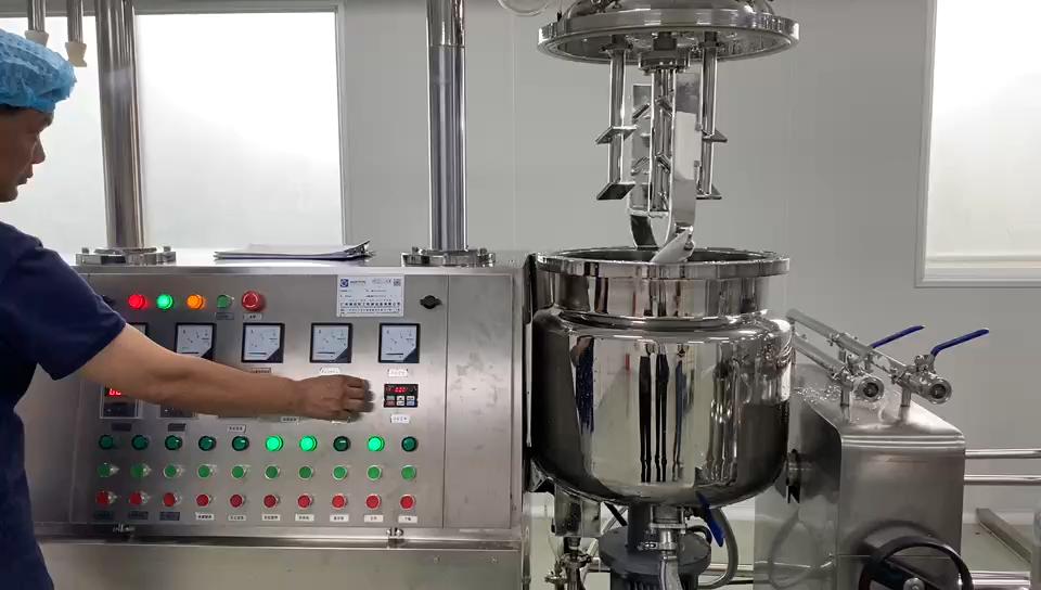 50 л гидравлический подъемный вакуумный гомогенизирующий эмульгирующий Миксер для косметического крема
