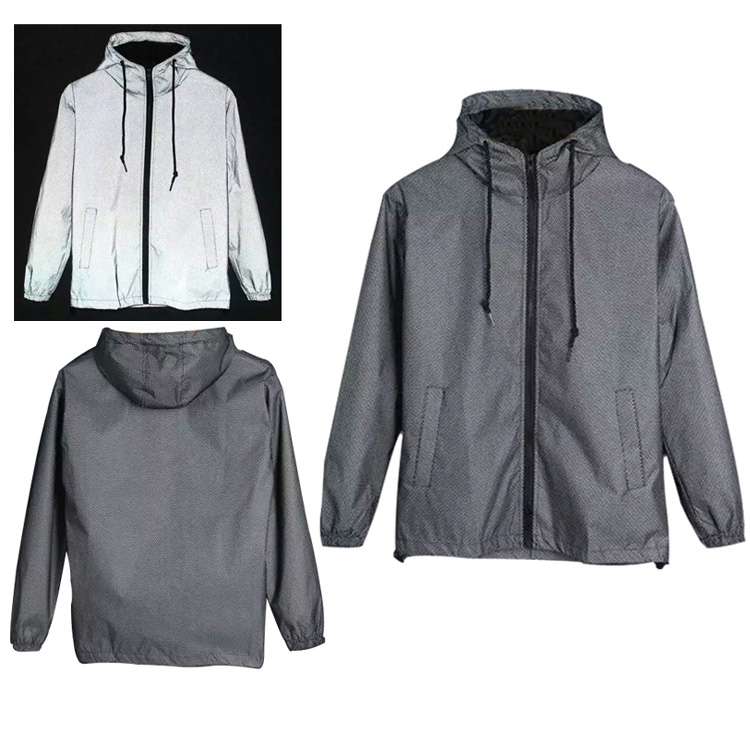 reflective bomber jackets,2 Pieces, Gray, black, pink, etc