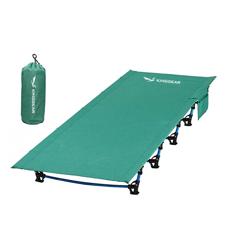 Ultralight Portable Aluminum Army Military Folding Camping Cot Bed for Adults