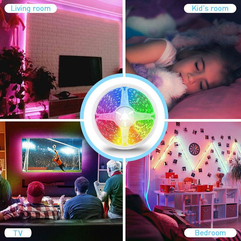 Wholesale OEM ODM APP Controlled 5050 RGB Full Color Led Strip Lights