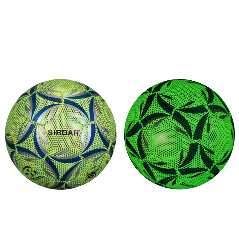 luminous footba training <strong>football</strong> glow in the dark soccer ball size 4/5 professional reflective soccer balls