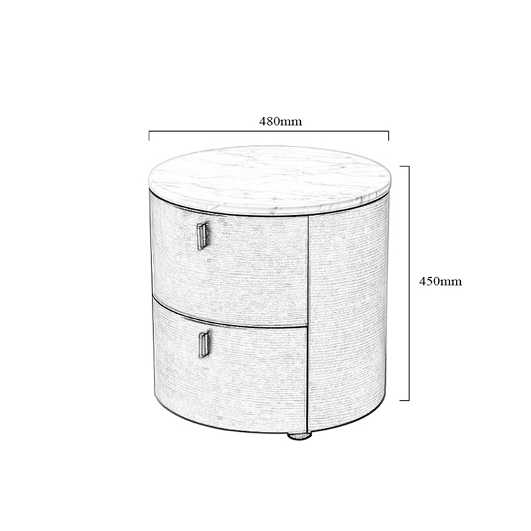 Customizable and Reconfigurable Vintage Elegant Bedroom Night Stand Bedside Tables