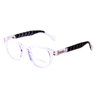 FONHCOO Factory Price New Design Fashion Purple Colour Round Frame Plastic Reading Glasses