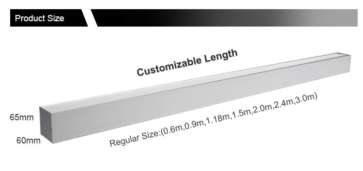 Groothandel 36 W/54 W Opgeschort Indoor LED Lineaire Licht Voor Klaslokaal