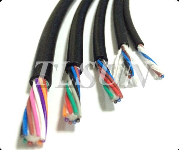 PUR material 2core 4core  High Flexible multicore Control Cable For Drag Chain